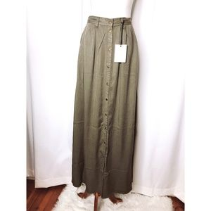 Pistola Womens Small Olive Maxi Skirt